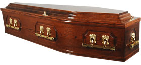 solid Oak Panel Coffin