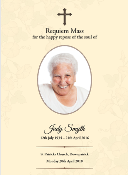 Judy Smyth Funeral Mass Mockup
